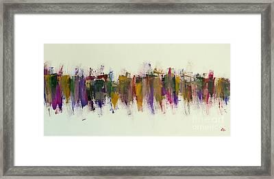 City V Love Towers Framed Print by Greg Mason Burns