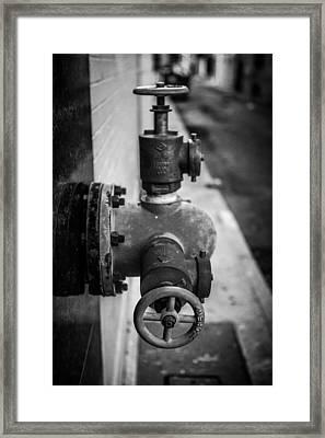 City Valves Framed Print