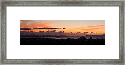 City View At Dusk, Emeryville, Oakland Framed Print by Panoramic Images