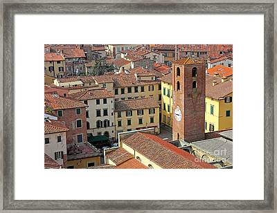 City View Of Lucca With The Clock Tower Framed Print