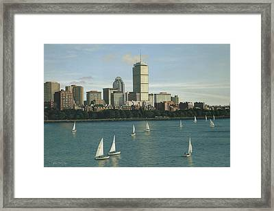 City View Sail Framed Print by Julia O'Malley-Keyes