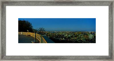 City Viewed From An Observation Point Framed Print
