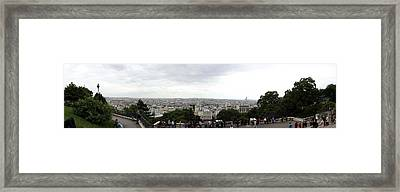 City Viewed From Sacre-coeur Basilica Framed Print