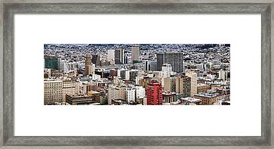 City Viewed From The Nob Hill, San Framed Print