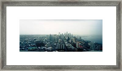City Viewed From The Space Needle Framed Print by Panoramic Images