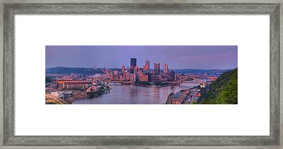 City Viewed From The West End Framed Print by Panoramic Images