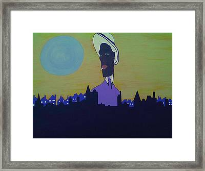 City Walk Framed Print by Lew Griffin