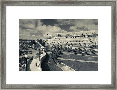 City Walls From The Valley Framed Print