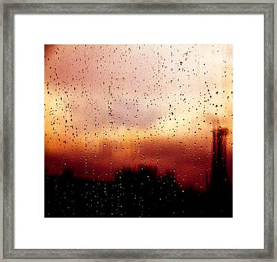 City Window Framed Print by Bob Orsillo