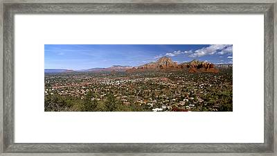 City With Rock Formations Framed Print by Panoramic Images