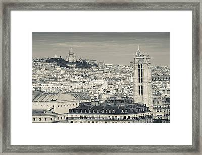 City With St. Jacques Tower Framed Print