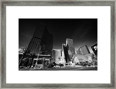 citycenter development including the mandarin oriental hotel tower and residences veer towers Las Ve Framed Print