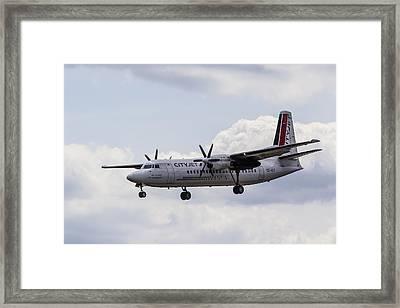 Cityjet Fokker 50 Framed Print