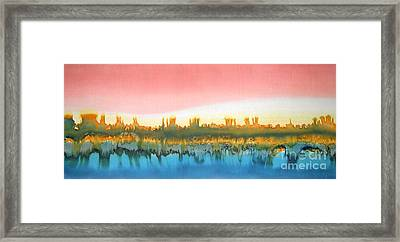 Citylights Framed Print by Addie Hocynec