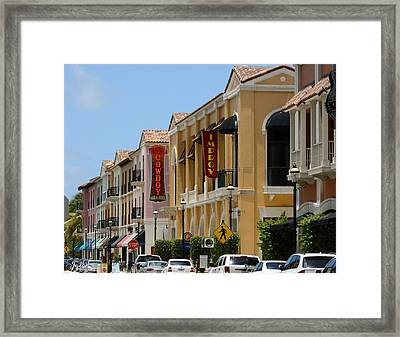 Cityplace Street Framed Print
