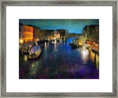 Framed Print featuring the photograph Cityscape #19. Venetian Night by Alfredo Gonzalez