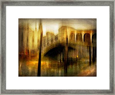 Framed Print featuring the photograph Cityscape #22. Venetian Bridge by Alfredo Gonzalez