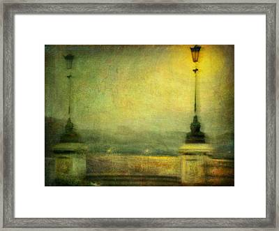 Framed Print featuring the photograph Cityscape #29. Parisienne Walkways by Alfredo Gonzalez