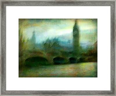 Framed Print featuring the photograph Cityscape #31. Blue Angel's Dream by Alfredo Gonzalez