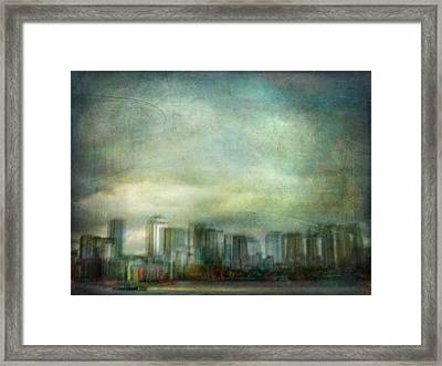 Framed Print featuring the photograph Cityscape #32. Chrystalhenge by Alfredo Gonzalez
