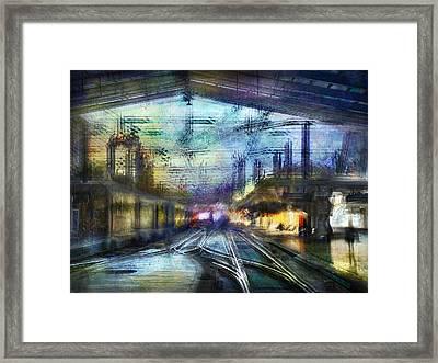 Cityscape #37 - Crossing Lines Framed Print by Alfredo Gonzalez