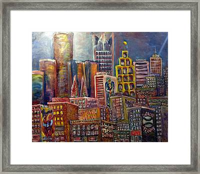 Cityscape 9 Framed Print by Don Thibodeaux