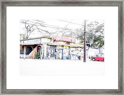 Cityscape A10n Austin Tx Framed Print