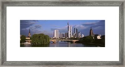 Cityscape, Alte Bridge, Rhine River Framed Print
