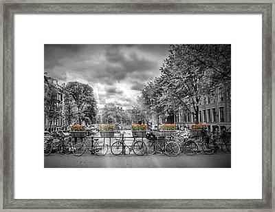 Cityscape Amsterdam Framed Print by Melanie Viola