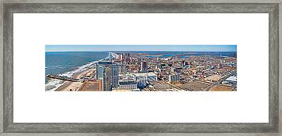 Cityscape, Atlantic City, New Jersey Framed Print by Panoramic Images
