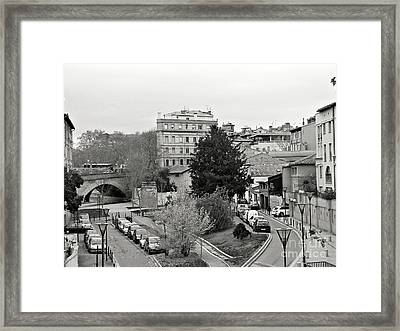 Framed Print featuring the photograph Cityscape by Cendrine Marrouat