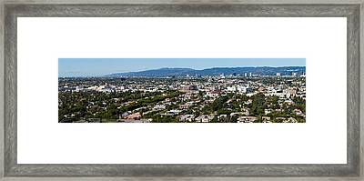 Cityscape, Culver City, Century City Framed Print by Panoramic Images