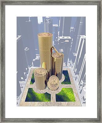 Cityscape Framed Print by David Griffith