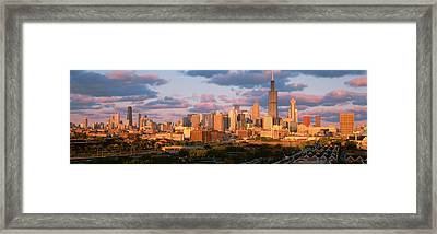Cityscape, Day, Chicago, Illinois, Usa Framed Print