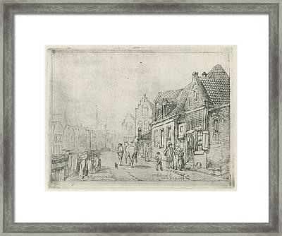 Cityscape, Eberhard Cornelis Rahms Framed Print by Eberhard Cornelis Rahms