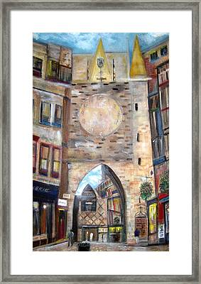 Cityscape European Framed Print by Rick Todaro