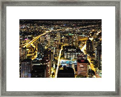 Cityscape Golden Burrard Bridge Mdlxiv Framed Print