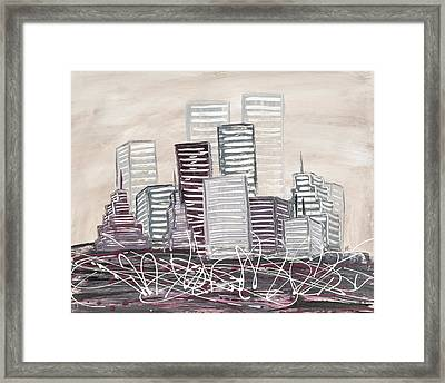 Cityscape Framed Print by Melissa Smith