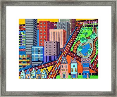 Cityscape Framed Print by Molly Williams