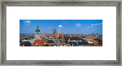 Cityscape, Munich, Germany Framed Print by Panoramic Images