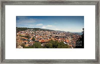 Cityscape Of Sibenik Croatia Framed Print