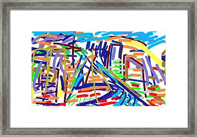 Cityscape Framed Print by Paul Sutcliffe