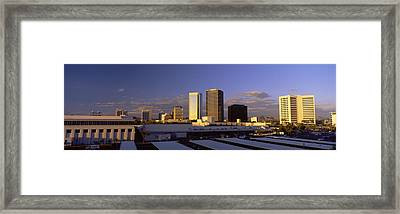 Cityscape Phoenix Az Framed Print by Panoramic Images