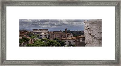 Rome Italy Cityscape Framed Print