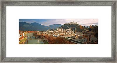 Cityscape Salzburg Austria Framed Print by Panoramic Images