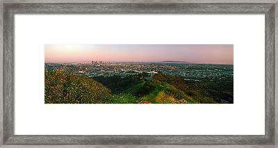 Cityscape, Santa Monica, City Of Los Framed Print