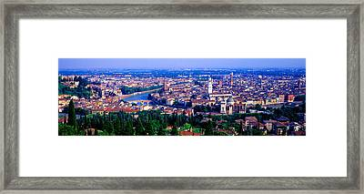 Cityscape, Verona, Italy Framed Print by Panoramic Images