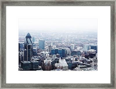Cityscape With 30 St Mary Axe Against Framed Print by Brett Worth / Eyeem