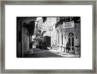 Ciudad Vieja Calle Framed Print by John Rizzuto