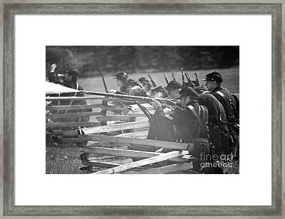 Cival War Reenactment Of 1863 Framed Print
